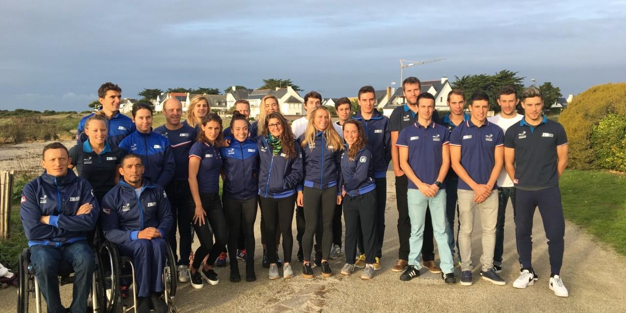 Présentation des têtes d'affiche de l'Equipe de France de Triathlon Elite